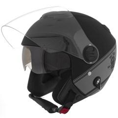 Capacete Moto Aberto Pro Tork New Atomic HD Skull Riders Preto/Prata