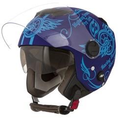 Capacete Moto Aberto Pro Tork New Atomic Highway Dreams Azul