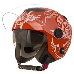 Capacete Moto Aberto Pro Tork New Atomic Highway Dreams Laranja