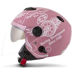 Capacete Moto Aberto Pro Tork New Atomic Highway Dreams Rosa