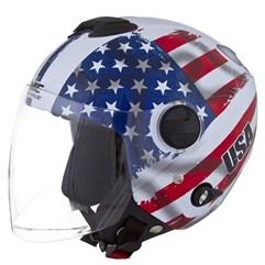 Capacete Moto Aberto Pro Tork New Atomic Nações USA