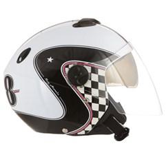 Capacete Moto Aberto Pro Tork New Atomic Vintage Branco/Preto