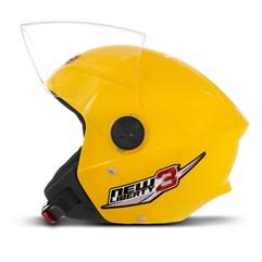 Capacete Moto Aberto Pro Tork New Liberty 3 Amarelo