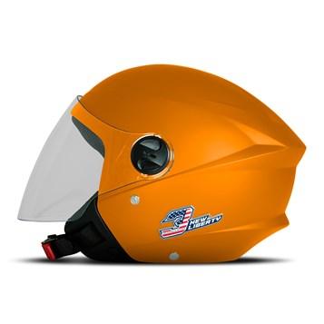 Capacete Moto Aberto Pro Tork New Liberty 3 Elite Laranja