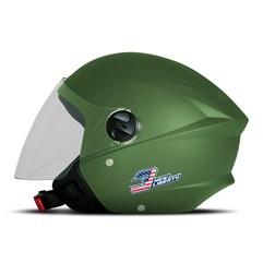 Capacete Moto Aberto Pro Tork New Liberty 3 Elite Verde Militar
