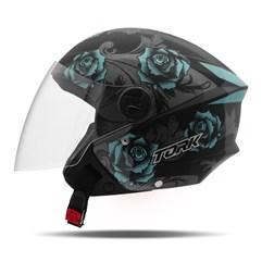 Capacete Moto Aberto Pro Tork New Liberty 3 Flowers Azul