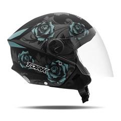 Capacete Moto Aberto Pro Tork New Liberty 3 Flowers Fosco Azul