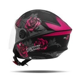 Capacete Moto Aberto Pro Tork New Liberty 3 Flowers Fosco Pink