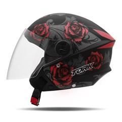 Capacete Moto Aberto Pro Tork New Liberty 3 Flowers Fosco Vermelho