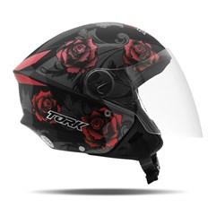 Capacete Moto Aberto Pro Tork New Liberty 3 Flowers Vermelho