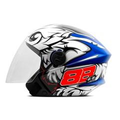Capacete Moto Aberto Pro Tork New Liberty 3 GP 88 Azul