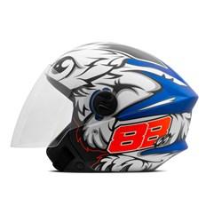 Capacete Moto Aberto Pro Tork New Liberty 3 GP 88 Fosco Azul