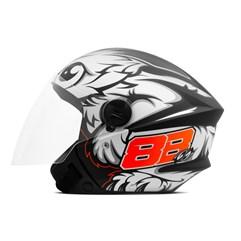 Capacete Moto Aberto Pro Tork New Liberty 3 GP 88 Fosco Preto