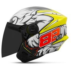 Capacete Moto Aberto Pro Tork New Liberty 3 GP 88 Fosco + Viseira Fumê Amarelo