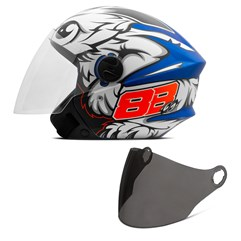 Capacete Moto Aberto Pro Tork New Liberty 3 GP 88 Fosco + Viseira Fumê Azul