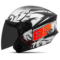 Capacete Moto Aberto Pro Tork New Liberty 3 GP 88 Fosco + Viseira Fumê Preto