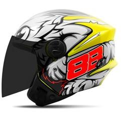 Capacete Moto Aberto Pro Tork New Liberty 3 GP 88 + Viseira Fumê Amarelo