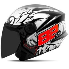 Capacete Moto Aberto Pro Tork New Liberty 3 GP 88 + Viseira Fumê Preto