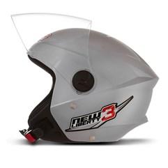 Capacete Moto Aberto Pro Tork New Liberty 3 Prata