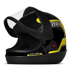 Capacete Moto Automático Pro Tork SM Sport Moto 788 Amarelo
