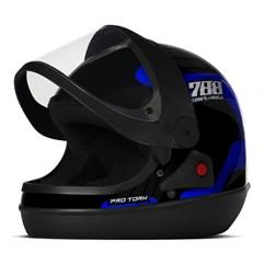 Capacete Moto Automático Pro Tork SM Sport Moto 788 Azul