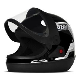 Capacete Moto Automático Pro Tork SM Sport Moto 788 Branco