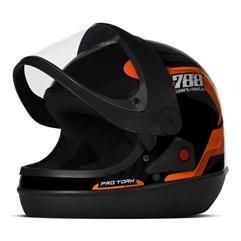Capacete Moto Automático Pro Tork SM Sport Moto 788 Laranja