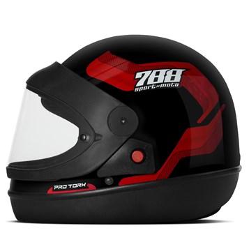 Capacete Moto Automático Pro Tork SM Sport Moto 788 Vermelho