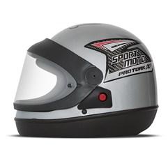 Capacete Moto Automático Pro Tork Sport Moto Prata