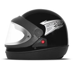 Capacete Moto Automático Pro Tork Sport Moto Preto