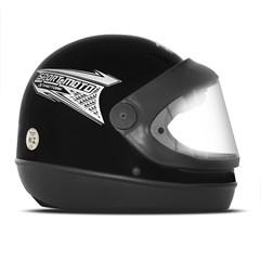Capacete Moto Automático Pro Tork Sport Moto Preto Fosco