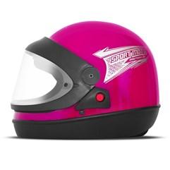 Capacete Moto Automático Pro Tork Sport Moto Rosa