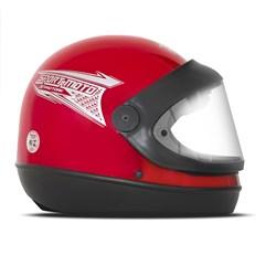Capacete Moto Automático Pro Tork Sport Moto Vermelho