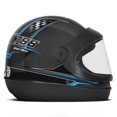 Capacete Moto Automático Pro Tork Super Sport Moto Grafite Azul