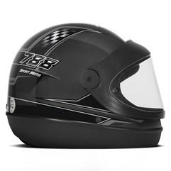 Capacete Moto Automático Pro Tork Super Sport Moto Grafite Cinza