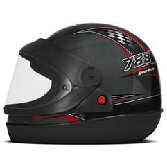 Capacete Moto Automático Pro Tork Super Sport Moto Grafite Vermelho