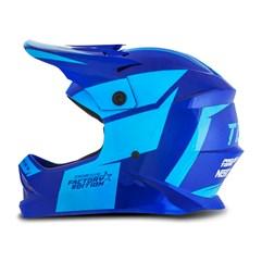 Capacete Moto Cross Trilha Infantil Factory Edition Pro Tork Kids Azul
