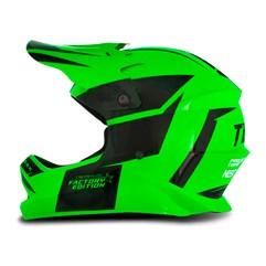 Capacete Moto Cross Trilha Infantil Factory Edition Pro Tork Kids Preto/Verde