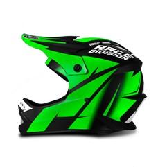 Capacete Moto Cross Trilha Infantil Jett Factory Edition Pro Tork Verde
