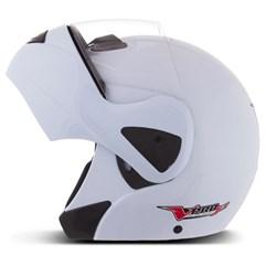 Capacete Moto Escamoteável Robocop Pro Tork V-Pro Jet Branco