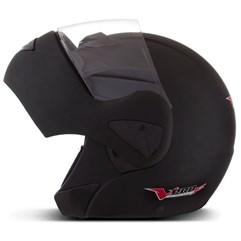 Capacete Moto Escamoteável Robocop Pro Tork V-Pro Jet Preto Fosco