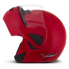 Capacete Moto Escamoteável Robocop Pro Tork V-Pro Jet Vermelho