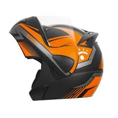 Capacete Moto Escamoteável V-Pro Jet Rally dos Sertões Fosco