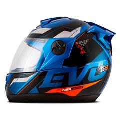 Capacete Moto Fechado Pro Tork Evolution G8 Evo Azul - Laranja