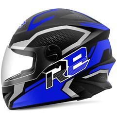 Capacete Moto Fechado R8 Air Pro Tork Fosco Azul