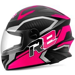 Capacete Moto Fechado R8 Air Pro Tork Fosco Rosa