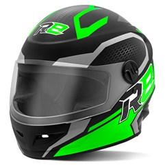Capacete Moto Fechado R8 Air Pro Tork Fosco Verde