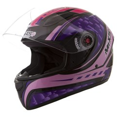 Capacete Moto Mixs Fokker Flame Pink