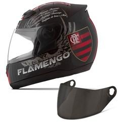Capacete Moto Pro Tork Evolution G4 Flamengo + Viseira Fumê