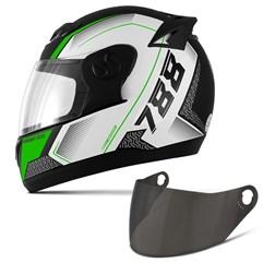 Capacete Moto Pro Tork Evolution G6 Pro Series Tech + Viseira Fumê Verde
